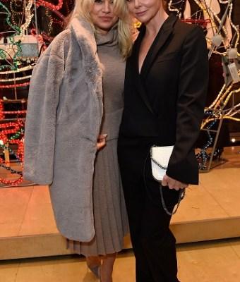 Pamela Anderson attends the Stella McCartney Christmas Lights switch on at the Stella McCartney Bruton Street Store on December 7, 2016 in London, England.
