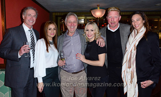 Dr Hilary Ben, Teo Lloyd, David Lloyd, Kristina Rihanoff, Boris Becker, Lily Becker David Lloyd's Birthday © Joe Alvarez