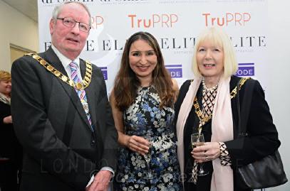 Dr Shirin Lakhani (Middle), Mayor and Mayoress of Dartford Elite Aesthetics Clinic Launch © Joe Alvarez