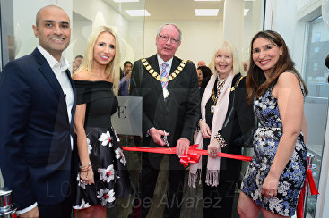 (L-R) Jay Shah, Naomi Isted, Mayor and Mayoress of Dartford, Dr Shirin Lakhani Dr Shirin Lakhani Elite Aesthetics Clinic Launch © Joe Alvarez