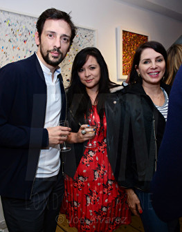 Ralf Little, Guest, Sadie Frost at Morphosis Private View © Joe Alvarez