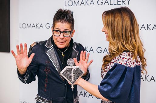 Joe Alvarez FTV at Olga Lomaka Gallery opening