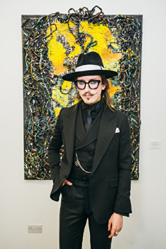 Joshua Kane at Lomaka Gallery Launch Party
