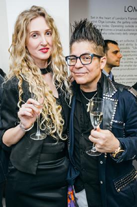 Tamara Orlova-Alvarez, Joe Alvarez at Olga Lomaka Gallery opening