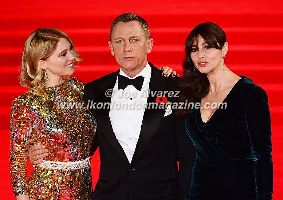 Lea Seydoux, Daniel Craig, Monica Bellucci © Joe Alvarez
