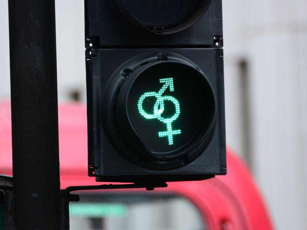 Pedestrian traffic signals have been replaced by new LGBT