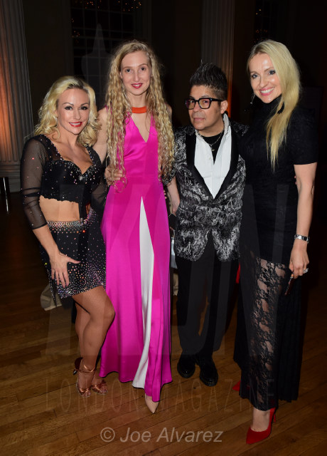 Kristina Rihanoff, Tamara Orlova Alvarez, Joe Alvarez, Olga Roh at the Dionne Warwick Dot Com Charity Gala © Joe Alvarez