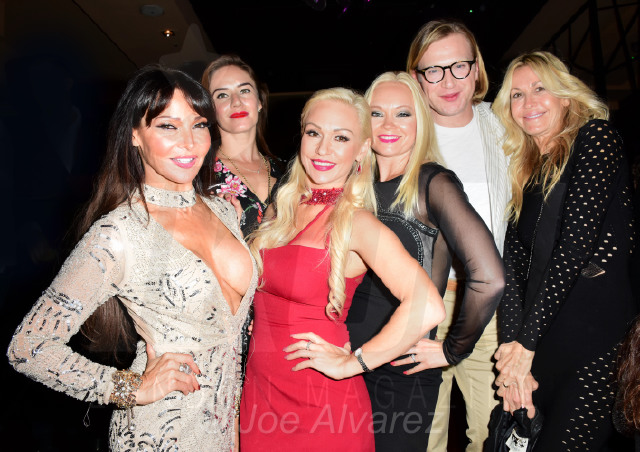 Lizzie Cundy, Kristina Rihanoff, Henry Conway, Melissa Obadash at Kristina Rihanoff's 40th Birthday © Joe Alvarez