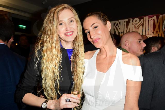 Tamara Orlova-Alvarez and Laura Pradelska at the RETNA Maddox Gallery Private View © Joe Alvarez