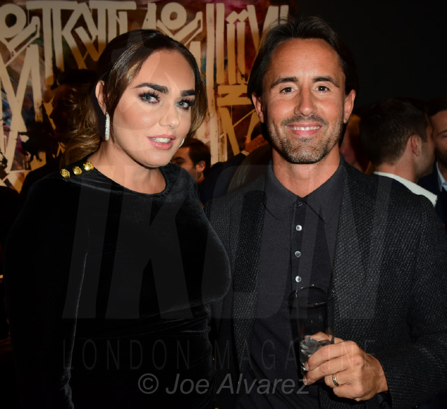Tamara Ecclestone and Jake Rutland at the RETNA Maddox Gallery Private View © Joe Alvarez