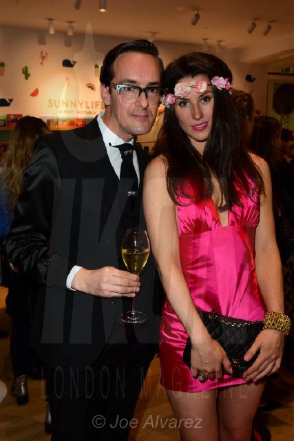 Darren Charman and Bianca Bowie-Phillips at the Lady Garden Campaign party in Selfridges © Joe Alvarez