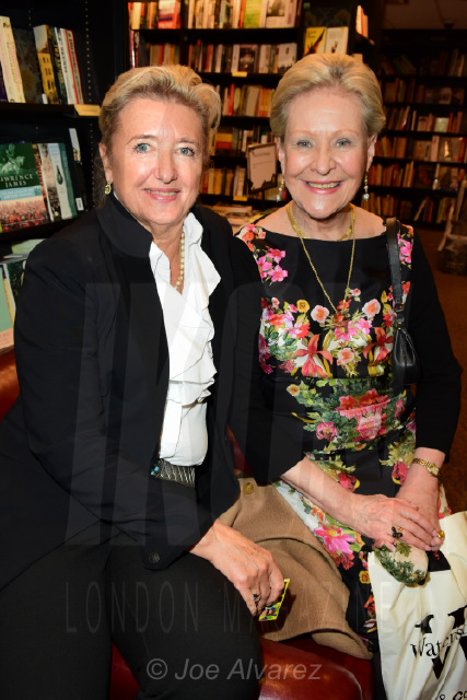 Victoria Wolcough and Guest at Princess Olga Romanov's book launch © Joe Alvarez