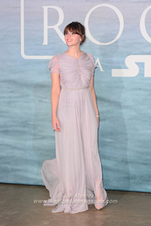 Felicity Jones Star Wars Rogue One London Premiere © Joe Alvarez
