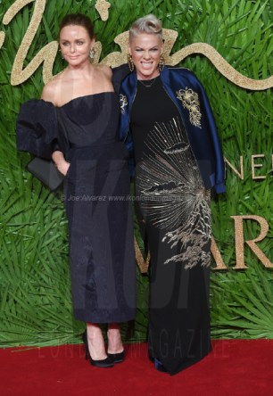 Pink and Stella McCartney attend the Fashion Theatre Awards at Royal Albert Hall, London.