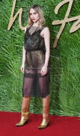 Suki Waterhouse attends the Fashion Theatre Awards at Royal Albert Hall, London.