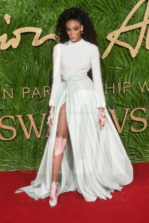 Winnie Harlow attends the Fashion Theatre Awards at Royal Albert Hall, London.