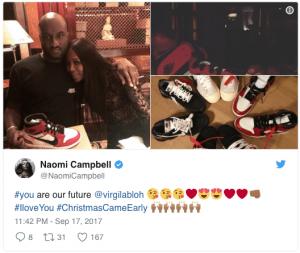 Naomi Campbell bias toward her employer Off White