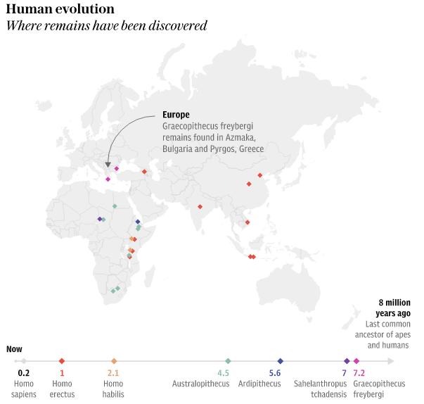 Humankind Originated from Europe