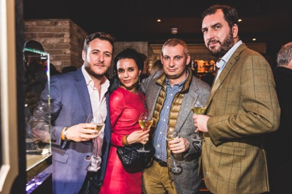 Guests Carbon Champagne Launch UK