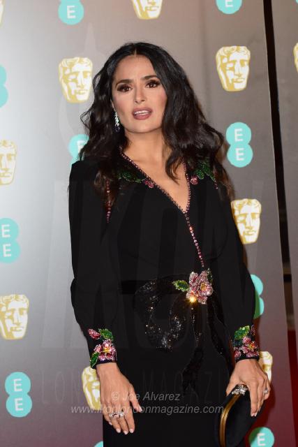 Salma Hayek Carte EE BAFTAs 2018 arrivals © Joe Alvarez