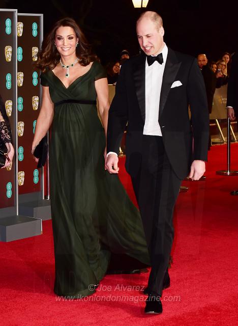 Catherine Duchess of Cambridge and Prince William EE BAFTAS 2018 © Joe Alvarez