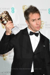 Sam Rockwell at the BAFTAs Winners Room Best Supporting Actor - Three Billboards Outside Ebbing Missouri © Joe Alavrez