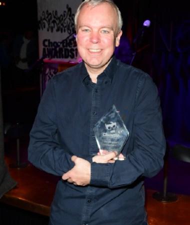 Steve Pemberton won award for Best TV Comedy Inside Number 9 Chortle Awards 2018 Comedy © Joe Alvarez 15138