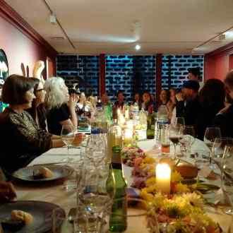 Pre-launch dinner James Ostrer
