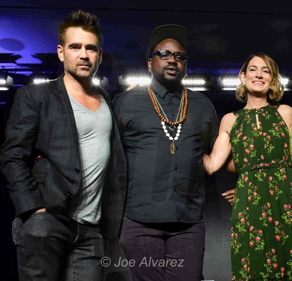 Colin Farrell, Bryan Tyree Henry, Gillian Flynn Widows Press conference Toronto Film Festival TIFF © Joe Alvarez