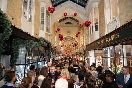 "LONDON, ENGLAND - NOVEMBER 14: Atmosphere attends the ""A Burlington Christmas"" at Burlington Arcade on November 14, 2018 in London, England. (Photo by Mike Marsland/Mike Marsland/Getty Images for Burlington Arcade)"