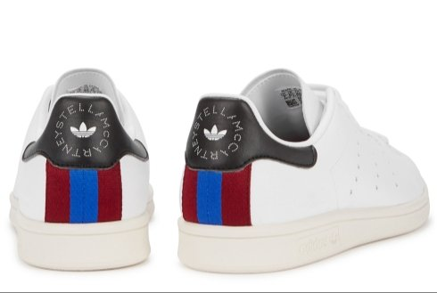Stella Stan Smith, a vegan shoe designed by Stella McCartney and Addidas which retails at £235