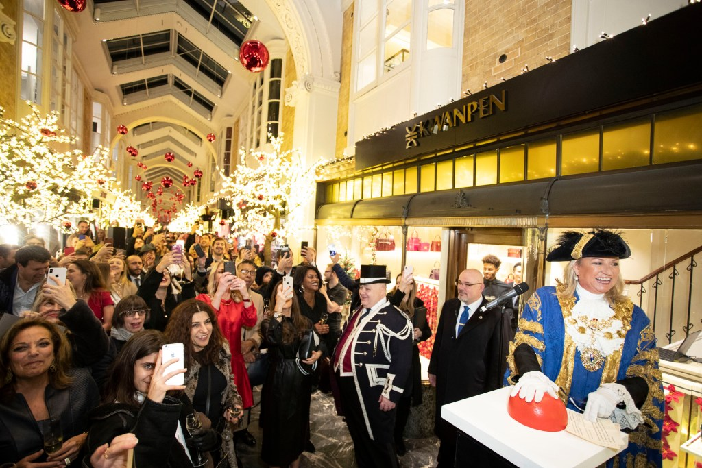 "LONDON, ENGLAND - NOVEMBER 14: The Right Worshipful Lord Mayor of Westminster Councillor Lindsey Hall attends the ""A Burlington Christmas"" at Burlington Arcade on November 14, 2018 in London, England. (Photo by Mike Marsland/Mike Marsland/Getty Images for Burlington Arcade) *** Local Caption *** Lindsey Hall"