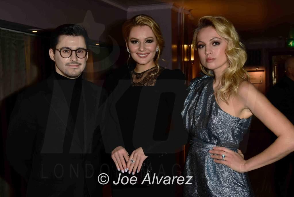 Josh Wood (Count Joshua Von Reutern), Maria Kozhevnikova, Yanina Studilina The Golden Unicorn Awards 2018 © JOE ALVAREZ