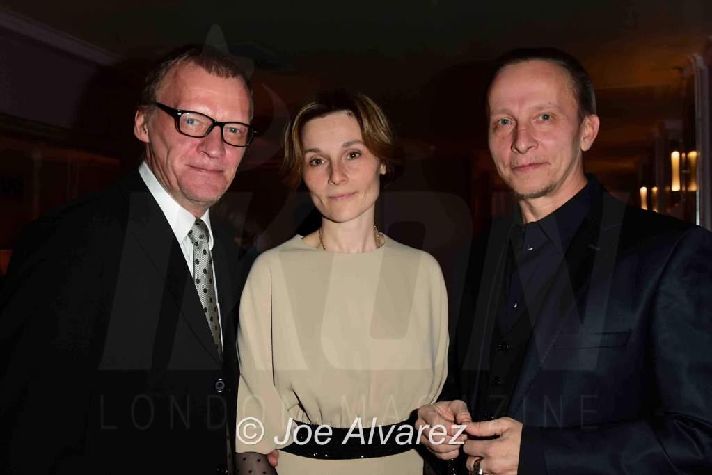 Aleksey Serebryakov, Oksana Arbuzova, Ivan Okhlobystin The Golden Unicorn Awards 2018 © JOE ALVAREZ