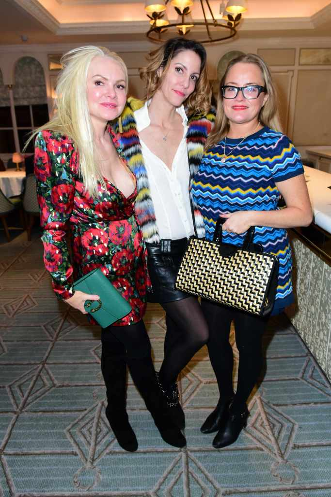 Erica Bergsmeds (R) with guests Fortras fashion showcase at Fortnum and Mason. © Joe Alvarez