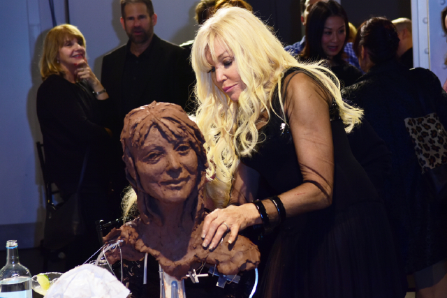 Debbie Moore OBE sculpting by Frances Segelman © Joe Alvarez