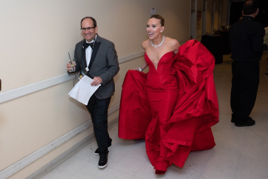 Scarlett Johansson backstage at the 77th Annual Golden Globe Awards at the Beverly Hilton in Beverly Hills, CA on Sunday, January 5, 2020.