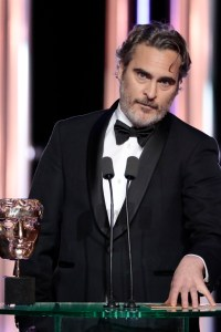 Joaquin Phoenix – Leading Actor - Joker. Photo courtesy of BAFTA 73rd British Academy Film Awards, Ceremony, Royal Albert Hall, London, UK - 02 Feb 2020