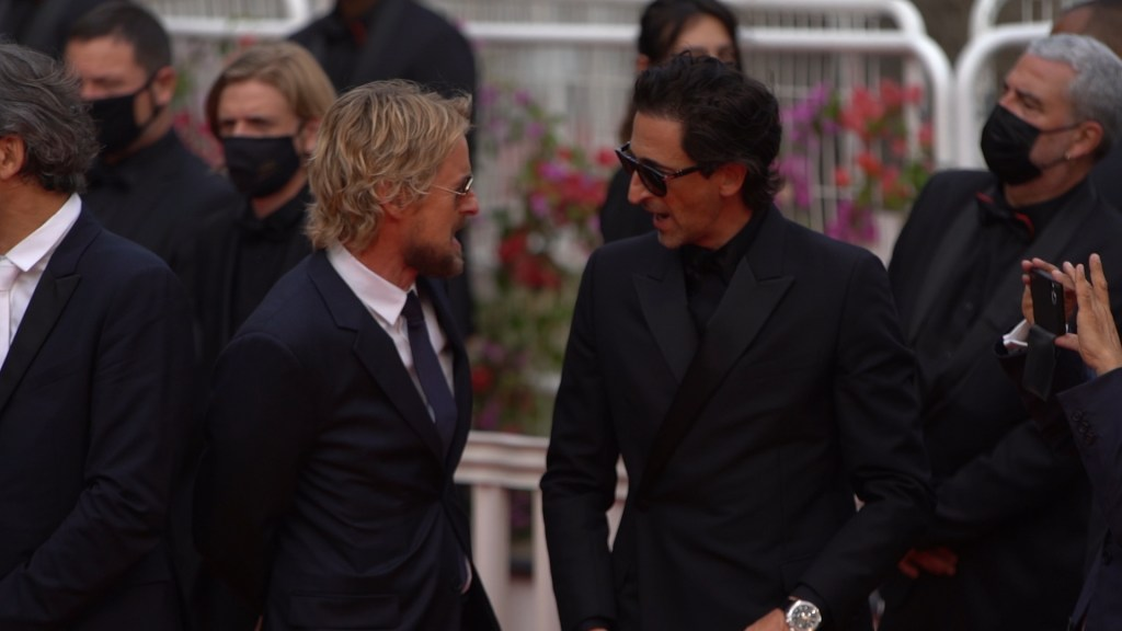 Owen Wilson and Adrien Brody at the premiere of French Dispatch on the night of 12th July 2021 in Cannes © DayNight.TV