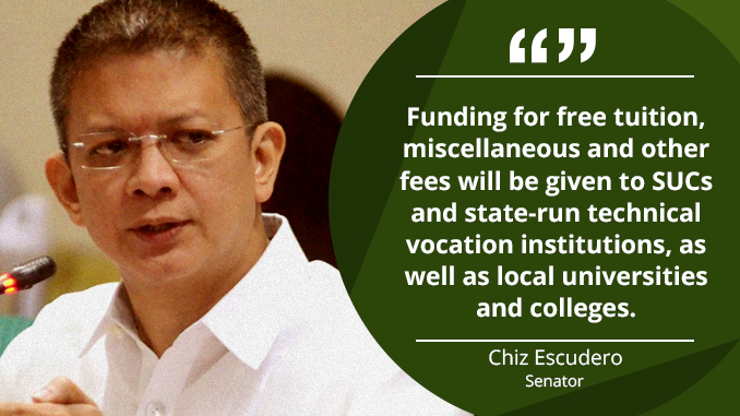 Free Tertiary Education Act Will Go a Long Way for the Filipino Youth – ESCUDERO
