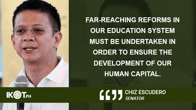 36 Senate Bills on Establishment, Conversion, Separation, and Renaming of Schools Approved – ESCUDERO