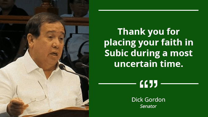 Pioneer Locators of Subic Instrumental in Success – GORDON
