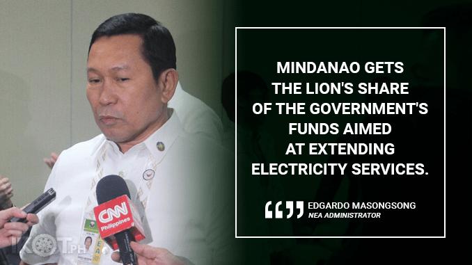 MINDANAO GETS BULK OF GOVERNMENT ELECTRIFICATION PROJECTS – MASONGSONG