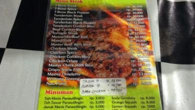 Harga Master Steak Kedungdoro Surabaya