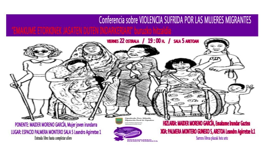 Conferencia. Violencia sufrida por las mujeres migrantes