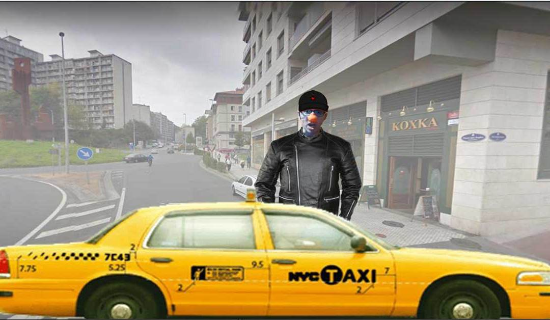 Kupela en taxi