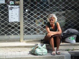 Mujer indigente