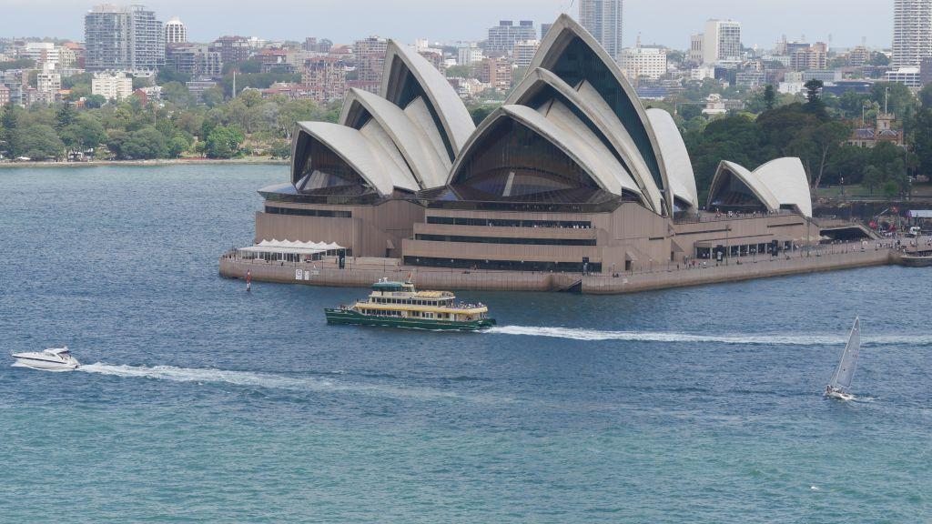 Sydney Opera House with ferry