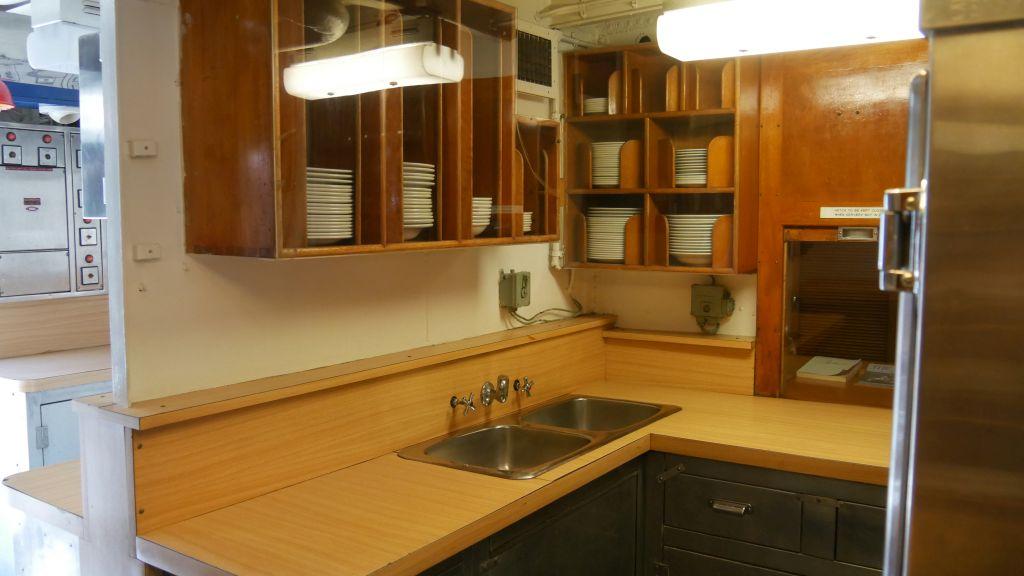 Keuken op het marineschip