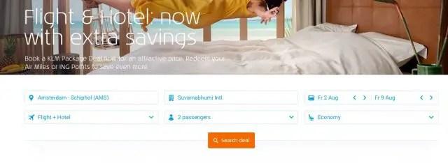 KLM Package deals ING rentepunten